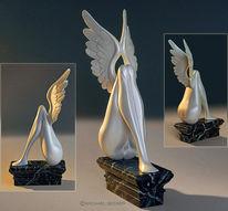 Plastik, Engel, Skulptur, Frau