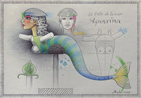 Muschel, Aquarina, Frau, Meerjungfrau