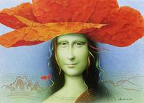 Mohn, Airbrush, Blüte, Mona lisa