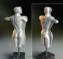 Plastik, Tanz, Rücken, Skulptur
