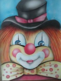 Aquarellmalerei, Lien, Nett, Clown