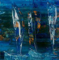 Boot, Blau, Meer, Wasser