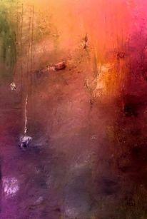 Abstrakt, Fantasie, Glutvoll, Malerei