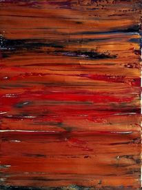Farbteppich, Rot, Messing, Schillernd