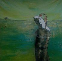 Pose, Landschaft, Meer, Model