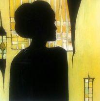 Schwarz, Portrait, Geheimnisvoll, Angelina jolie