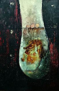 Malerei, Abstrakt, Wachsen