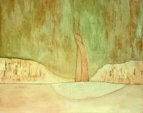 Landschaft, Symbol, Beziehung, Verbandelt