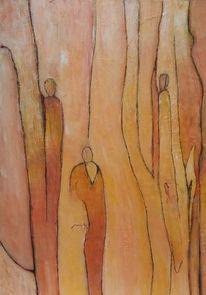 Warme farben, Menschen, Abstrakt, Fantasie