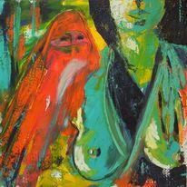 Malerei, Acrylmalerei, Frau, Kultur