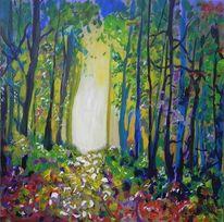 Herbst, Acrylmalerei, Sonne, Farben