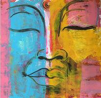 Portrait, Asien, Religion, Buddha