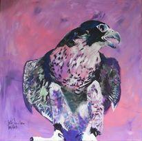 Falke, Acrylmalerei, Tiere, Farben
