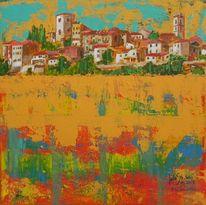 Acrylmalerei, Montemerano, Malerei, Toskana