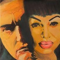 Portrait, Acrylmalerei, Musik, Blues