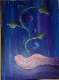 Hand, Pflanzen, Blase, Fantasie