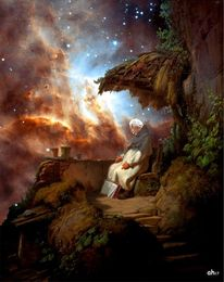 Albert einstein, Carl spitzweg, Star formation region, Spacetelescope hubble