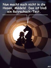Cartoon, Fotografie, Rorschachtest, Schach