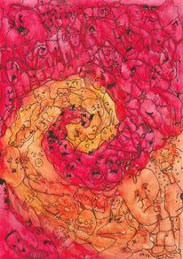 Schreck, Spirale, Gewalt, Illustrationen