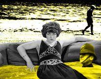 Strand, Ertrinken, Frau, Meer