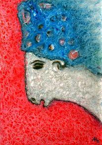 Traumhut, Pastellmalerei, Tricolore, Ostern