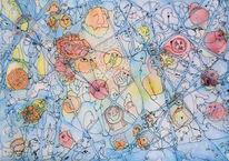Pong, Ping, Netzwerk, Illustrationen