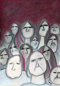 Menschen, Schweigend, Schweigen, Illustrationen