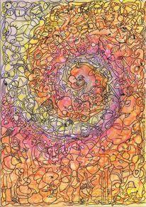 Affe, Spirale, Welle, Rotspatz