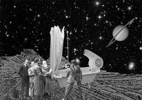 Edwin süßhoß, Mond, Duschvorhang, Saturn