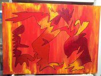 Freundlich, Acrylmalerei, 2013, Malerei
