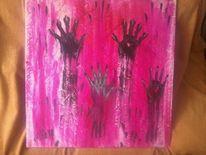 Modern, Hände, Pink, Hilfe