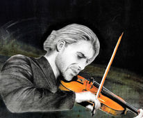 Zopf, Collage, David garrett, Geigenbogen