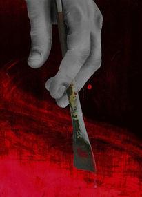 Finger, Malerei, Pinsel, Rot
