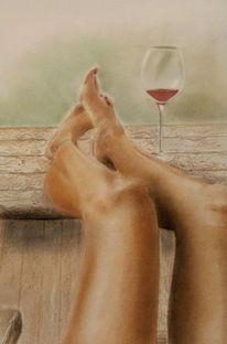 Bein, Fuß, Entspannung, Sommer