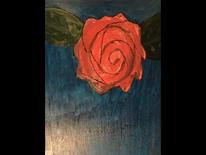 Rose, Ölmalerei, Jagd, Leuchtkraft