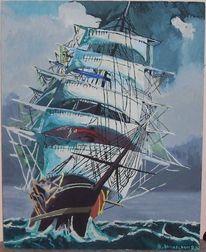 Segelschiff, Malerei