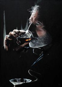 Portrait, Ölmalerei, Mete özbek, Mete oezbek