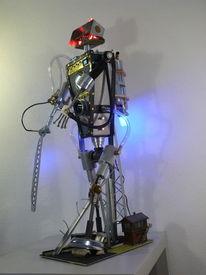 Lampe, Metall, Robotart, Beleuchtung