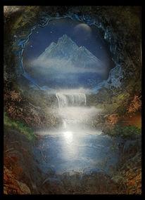 Berge, Sehnsucht, Fernweh, Wasserfall