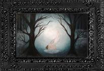 Engel, Wald geburt, Malerei, Geburt