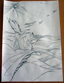 Morgen fliegen, Zeichnungen