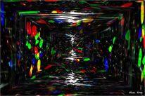 Licht, Abstrakt, Leinen, Blau