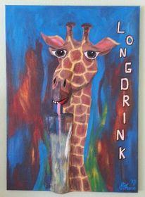 3d, Bremen, Acrylmalerei, Giraffe