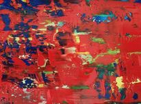 Orange, Acrylmalerei, Patarazit, Liebe