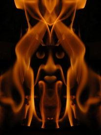 Spiegelung, Flammend, Digital, Effekt