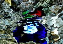 Quelle, Wassermalerei, Experimentell, Makro