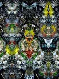 Spiegelung, Farben, Reflexion, Makro