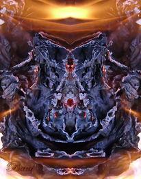 Spiegelung, Feuer, Lagerfeuer, Reflexion