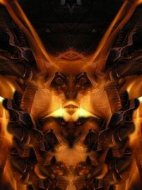 Spiegelbild, Mystik, Flammen, Reflexion