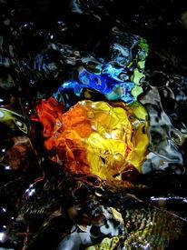 Quelle, Wassermalerei, Farben, Fantasie